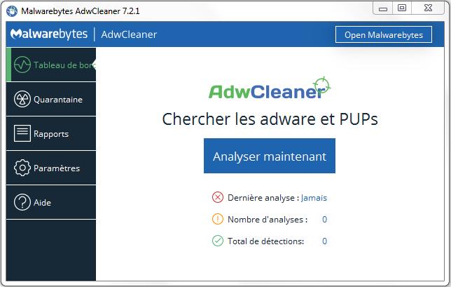 aide installation adwcleaner 2