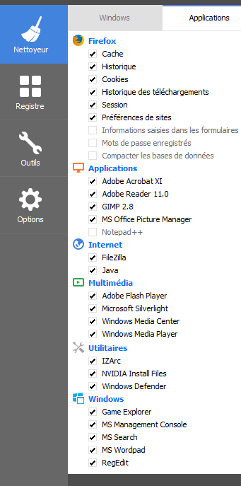 aide configuration ccleaner 7