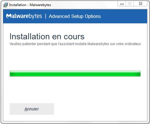 aide installation malwarebytes 3