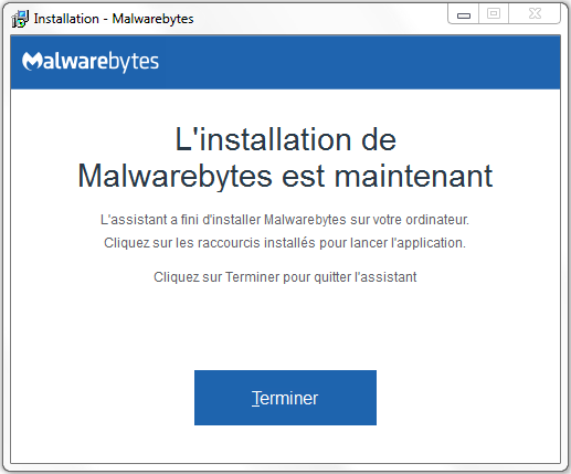 aide installation malwarebytes 4